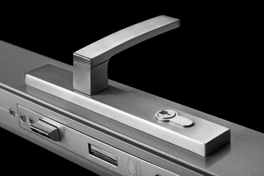 icon hinged door lock handle