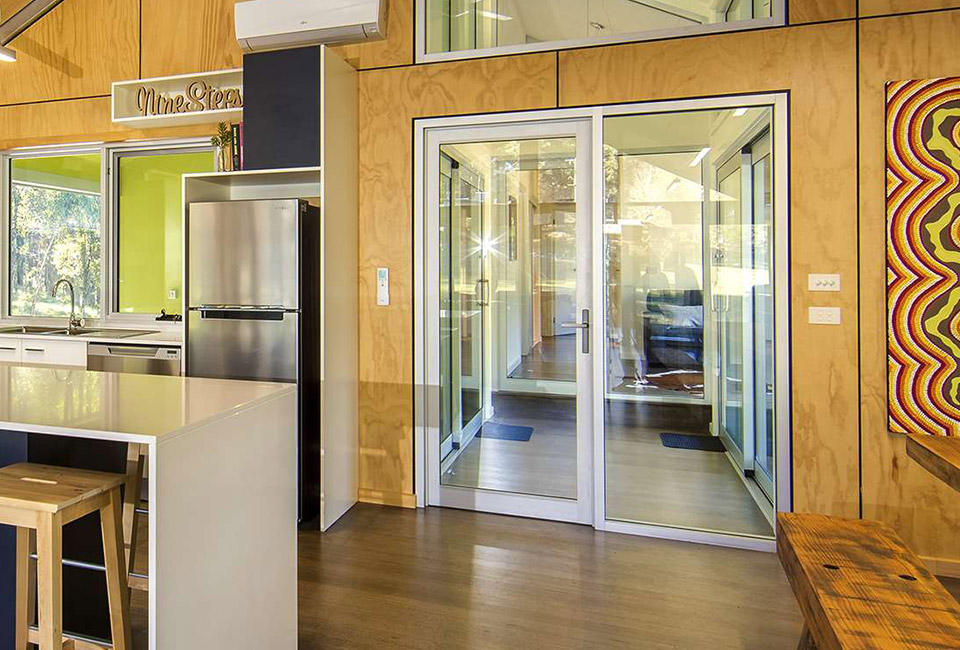 hinged aluminium doors